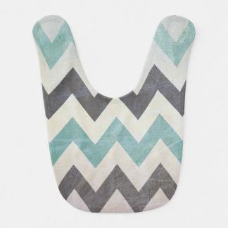 Chevron Pattern On Metal Texture by Shirley Taylor Bib