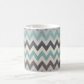 Chevron Pattern On Metal Texture by Shirley Taylor Coffee Mug