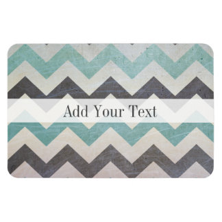 Chevron Pattern On Metal Texture by Shirley Taylor Magnet