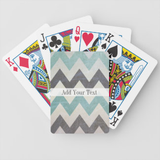 Chevron Pattern On Metal Texture by Shirley Taylor Poker Deck