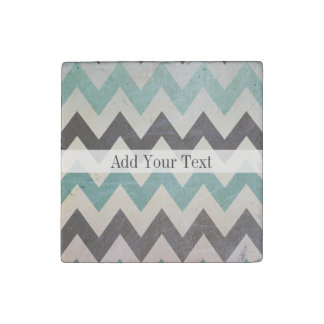 Chevron Pattern On Metal Texture by Shirley Taylor Stone Magnet