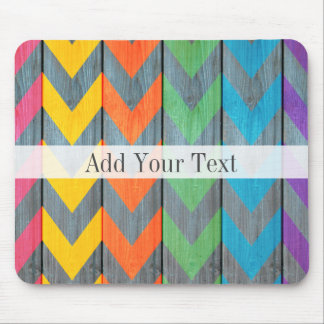 Chevron Pattern On Wood Texture by Shirley Taylor Mouse Pad