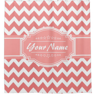 Chevron Pattern Personalized Shower Curtain #9