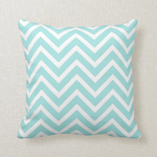 CHEVRON PATTERN PILLOW, Seafoam Green & White Cushion