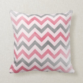 Chevron pattern Pink and Grey zig zag pillow