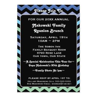 Chevron Pattern Reunion, Event or Party Invitation