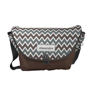 Chevron Pattern Rickshaw Messenger Bag (cocoa)