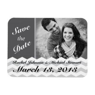 Chevron Pattern Save the Date Wedding Magnet