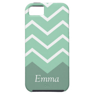 Chevron Personalised iphone Case (Green)