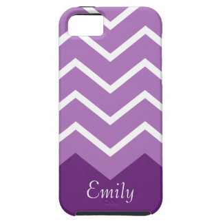 Chevron Personalised iphone Case (purple)