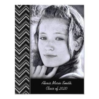 Chevron Photo Frame for Graduation Invitation