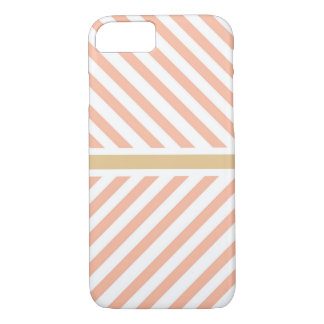 Chevron pink golden stripes fancy classic case