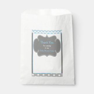 Chevron & Polka Dot Baby Shower Party Favor Favour Bag