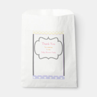 Chevron & Polka Dot Baby Shower Party Favour Bag