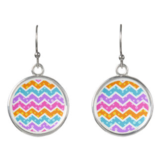 Chevron Polka Dots Earrings