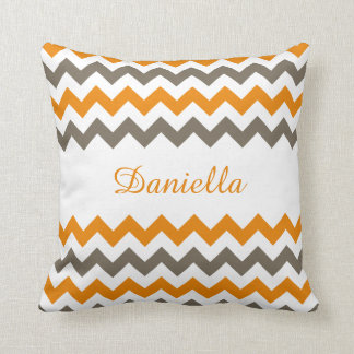 Chevron Polyester Custom Name Pillow