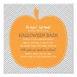 Chevron Pumpkin Halloween Party Invite 13 Cm X 13 Cm Square Invitation Card