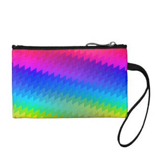 Chevron rainbow coin purse