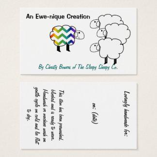 Chevron Rainbow Sheep Hang Tag and Business Card
