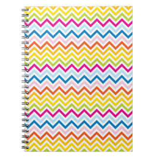 Chevron sample multicolored spiral note book