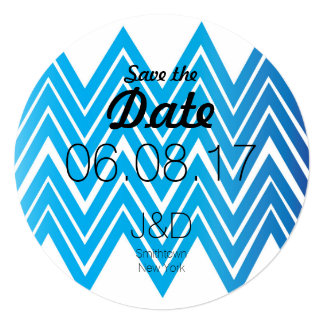Chevron Save The Date Invitation Circle invite