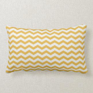 Chevron Stripe Gold/White American MOJO Pillow Throw Cushion