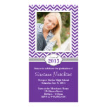 Chevron Stripe Graduation Invitation Class of 2013 Photo Card Template