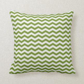 Chevron Stripe Green/ White American MOJO Pillow