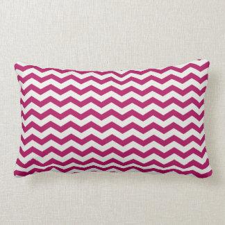 Chevron Stripe Magenta/White American MOJO Pillow