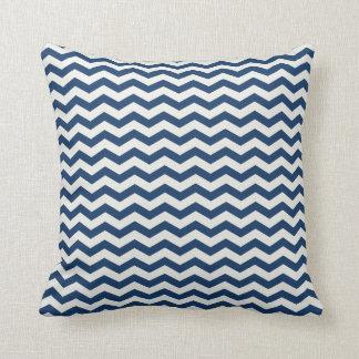 Chevron Stripe Navy and White American MOJO Pillow