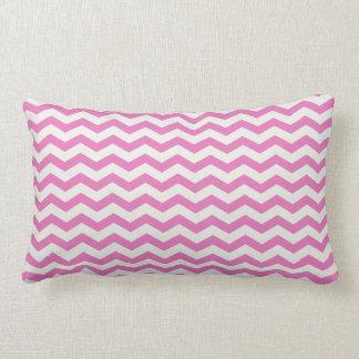 Chevron Stripe Pink/White American MOJO Pillow