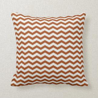 Chevron Stripe Rust and White American MOJO Pillow Cushion