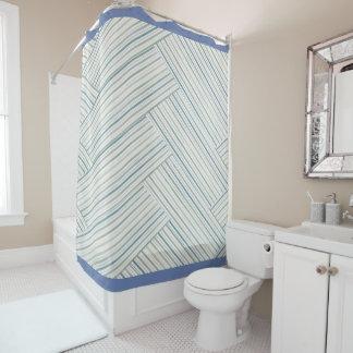 Chevron Stripe Shower Curtain