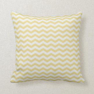 Chevron Stripe Yellow/ White American MOJO Pillow Throw Cushion