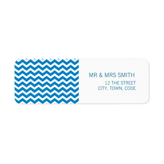Chevron Striped address label