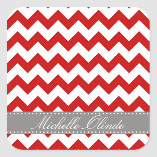 Chevron Stripes Square Sticker