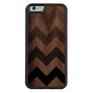 chevron stripes walnut iPhone 6 bumper