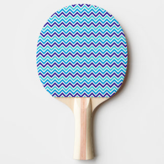 Chevron Stripes Zig Zag Blue Red Rubber Ping Pong Ping Pong Paddle