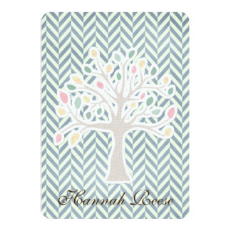 Chevron Tree of Life Bar Bat Mitzvah Invitations