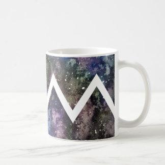 Chevron Watercolor Nebula Mug