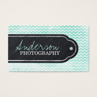 Chevron Watercolour Business Card