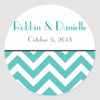 Chevron Wedding Sticker