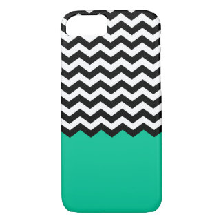 Chevron With Colored Bottom (Turquoise) iPhone 7 Case
