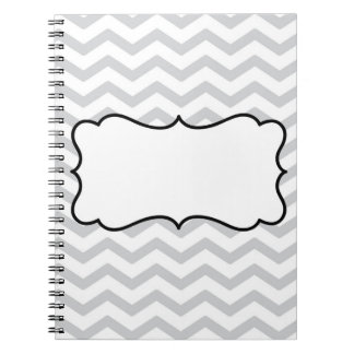 Chevron With Name Spiral Note Books