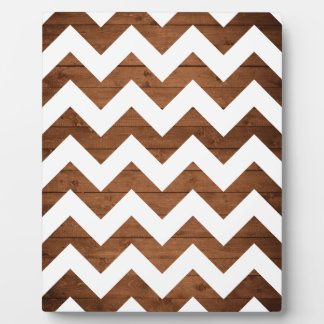 Chevron Wood Display Plaque