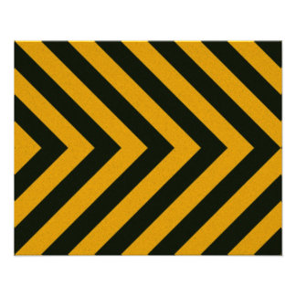 Chevron Yellow Black Hazard Stripes Photo Art