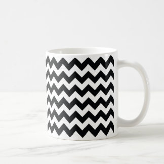 Chevron Zig Zag Black/White Mug