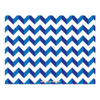 Chevron Zig Zag Blue Postcard