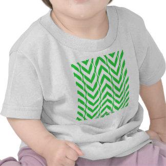 Chevron Zig Zag Green Shirt