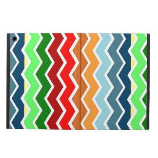 Chevron zig zag multiple colors pattern fun happy iPad air covers